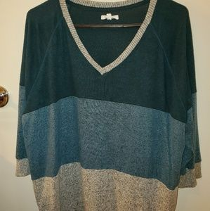 Maurices tri color light sweater.